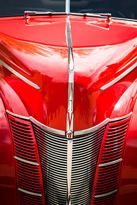 Antique Car Photograph - 1940 Ford Deluxe Coupe Grille by Jill Reger
