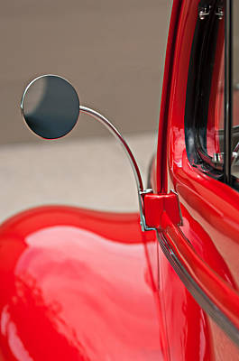 Car Photograph - 1940 Ford Deluxe Coupe Rear View Mirror by Jill Reger