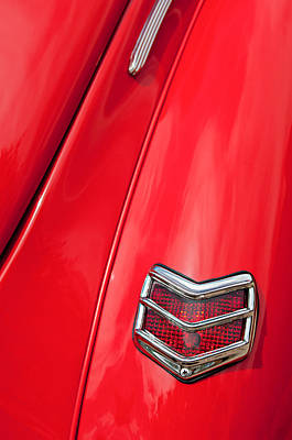 1940 Ford Deluxe Coupe Taillight Art Print by Jill Reger