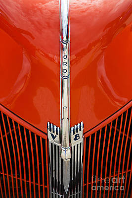 Photograph - 1940 Ford Pickup Truck Emblem Car Or Automobile In Color  3136.0 by M K Miller