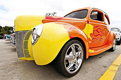 Photograph - 1940 Ford Sedan Hot Rod by Andy Crawford