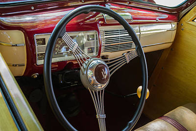 Photograph - 1940 Ford Super Deluxe Woody Interior by Roger Mullenhour