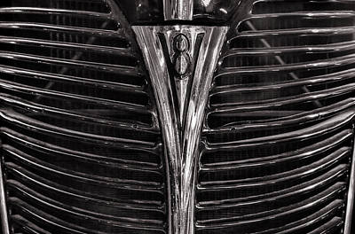 Photograph - 1940 Ford V8 Grille by Ken Smith