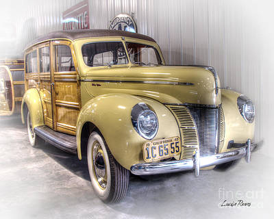 Watercolor Alphabet Rights Managed Images - 1940 Ford Woodie Royalty-Free Image by Louise Reeves