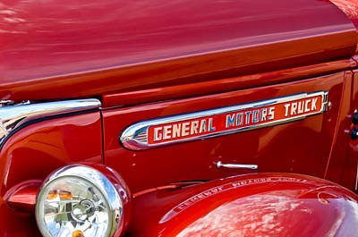 Photograph - 1940 Gmc Side Emblem by Jill Reger