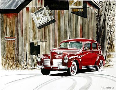 1940 Hudson And Barn Art Print by Rick Mock