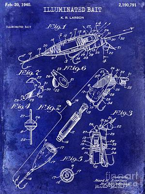 Cape Cod Photograph - 1940 Illuminated Bait Patent Drawing by Jon Neidert
