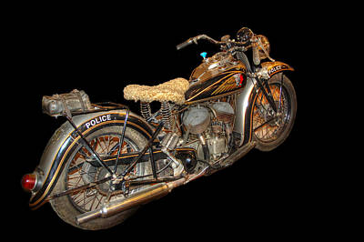 Photograph - 1940 Indian Scout Police Unit Version 2 by Ken Smith