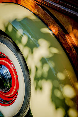 Photograph - 1940 International D-2 Station Wagon Wheel by Jill Reger