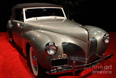 Photograph - 1940 Lincoln Continental Convertible . Front Angle by Wingsdomain Art and Photography