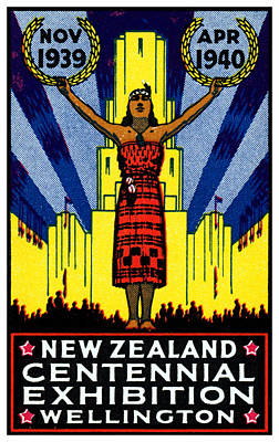 Maori Painting - 1940 New Zealand Centennial by Historic Image