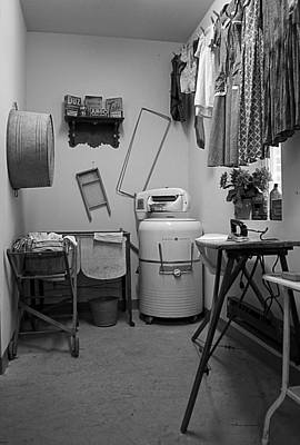 Central Il Photograph - 1940ish Laundry Room by Thomas Woolworth