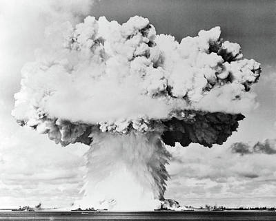Atom Bomb Photograph - 1940s 1950s Atomic Bomb Blast Mushroom by Vintage Images