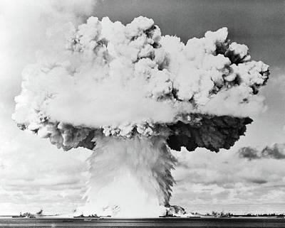 Armageddon Photograph - 1940s 1950s Atomic Bomb Blast Mushroom by Vintage Images