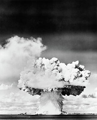 Atom Bomb Photograph - 1940s 1950s Atomic Bomb Explosion by Vintage Images