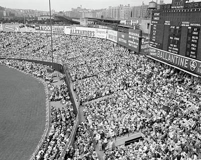 Old Yankee Photograph - 1940s 1950s Large Crowd Yankee Stadium by Vintage Images