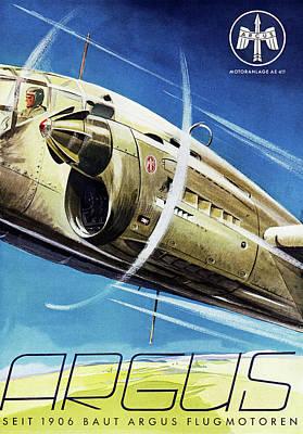 1940s Air Travel Advert Art Print