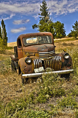 1940's Chevy Truck Art Print by Camille Lyver