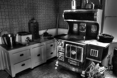 Photograph - 1940s Country Kitchen by Steven Parker