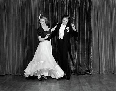 Black Tie Photograph - 1940s Couple Man And Woman In Formal by Vintage Images