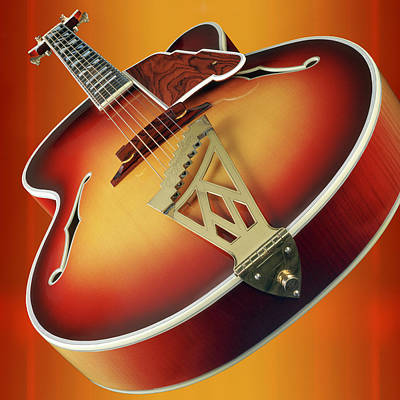 Custom Guitars Photograph - 1940s D Angelico New Yorker Guitar by Garry McMichael