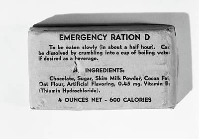 1940s Emergency Ration D Survival Kit Art Print