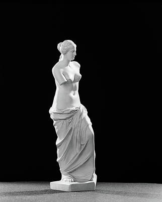 1940s Replica Statuette Of Classical Art Print