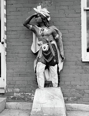 Native American Symbols Photograph - 1940s Statue Of American Indian by Vintage Images