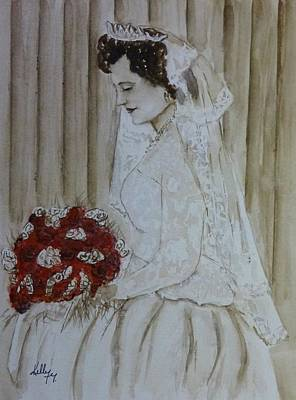 Painting - 1940's Wedding Portrait by Kelly Mills