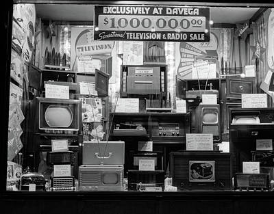 Storefront Photograph - 1940s Window Of Store Selling Radios by Vintage Images