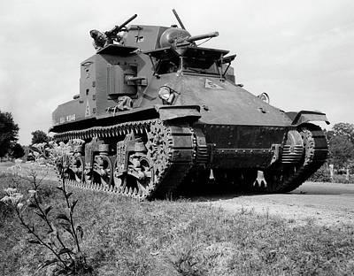 1940s World War II Era Us Army Tank One Art Print