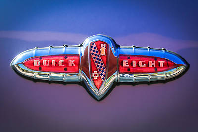 Photograph - 1941 Buick Eight Special Emblem by Jill Reger