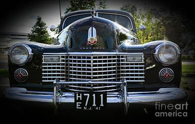 1941 Cadillac Front End Art Print by Paul Ward
