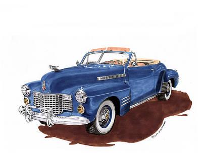 Painting - 1941 Cadillac Series 62 Convertible by Jack Pumphrey