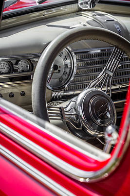 Photograph - 1941 Chevrolet Steering Wheel And Dash by Ron Pate