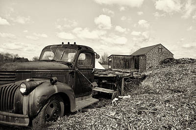 Barn Digital Art - 1941 Chevy Truck In Sepia by Bill Cannon