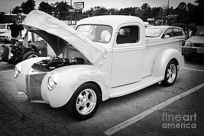 Photograph - 1941 Ford Pickup Truck Classic Automobile In Sepia  3079.01 by M K Miller