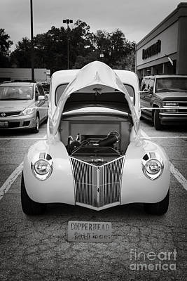 Photograph - 1941 Ford Pickup Truck Front End Classic Automobile In Sepia 308 by M K Miller