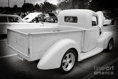 Photograph - 1941 Ford Pickup Truck Side View  Classic Automobile In Sepia 30 by M K Miller