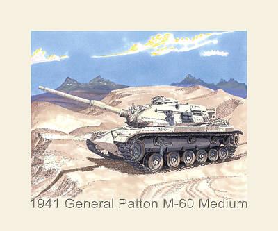 Painting - 1941 General Patton M 60 Medium Tank by Jack Pumphrey