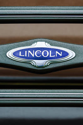 1941 Photograph - 1941 Lincoln Emblem by Jill Reger