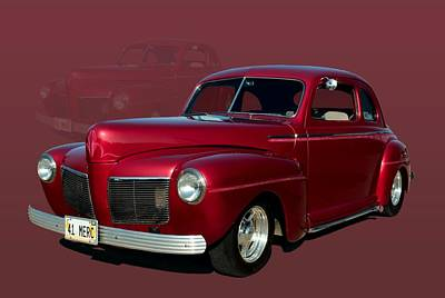 Mercury Hot Rod Photograph - 1941 Mercury Custom Coupe by Tim McCullough