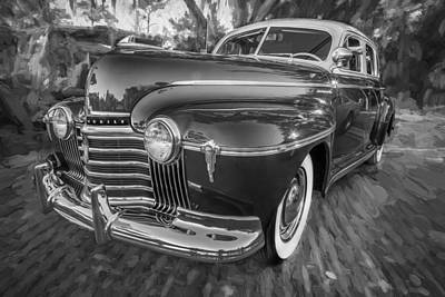 1941 Oldsmobile Hydramatic Sedan Painted Bw   Art Print by Rich Franco