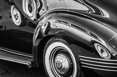 Photograph - 1941 Packard 110 Deluxe -1092bw by Jill Reger