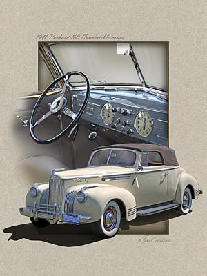 1941 Packard 160 Convertible-high Style Art Print