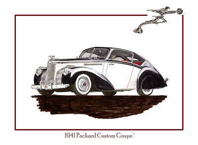 Painting -  Packard Custom Coupe 120 by Jack Pumphrey