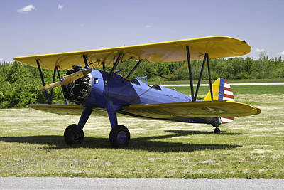 1941 Stearman A75n1 Biplane Airplane  Art Print