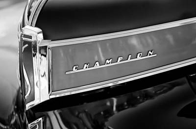 Photograph - 1941 Studebaker Champion Grille Emblem by Jill Reger