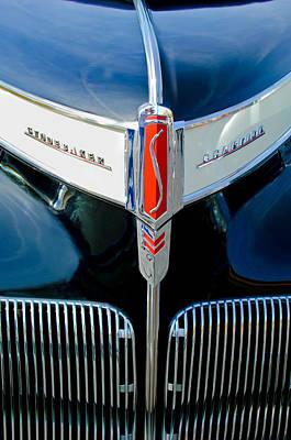 1941 Photograph - 1941 Studebaker Champion Hood Emblem by Jill Reger