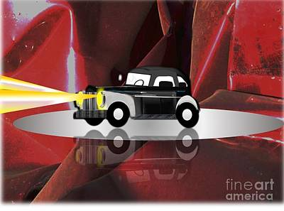 Painting - 1941 Willys Coupe Classic Car by Belinda Threeths